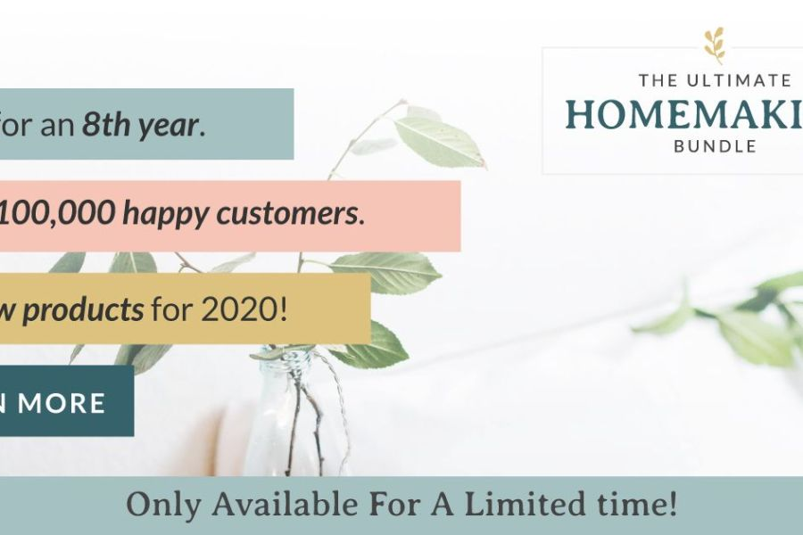 Not So Bummer Summer with the Ultimate Homemaking Bundle 2020