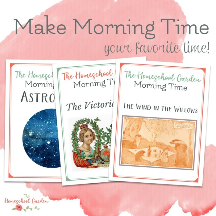 Make your Morning Time special with The Homeschool Garden and A Gentle Advent!
