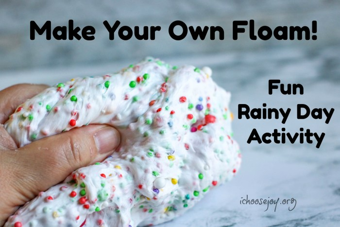 Make Your Own Floam: DIY craft for kids. It's a Fun Rainy Day Activity!