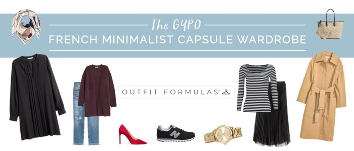 The Get Your Pretty On French Minimalist outfit formula capsule wardrobe