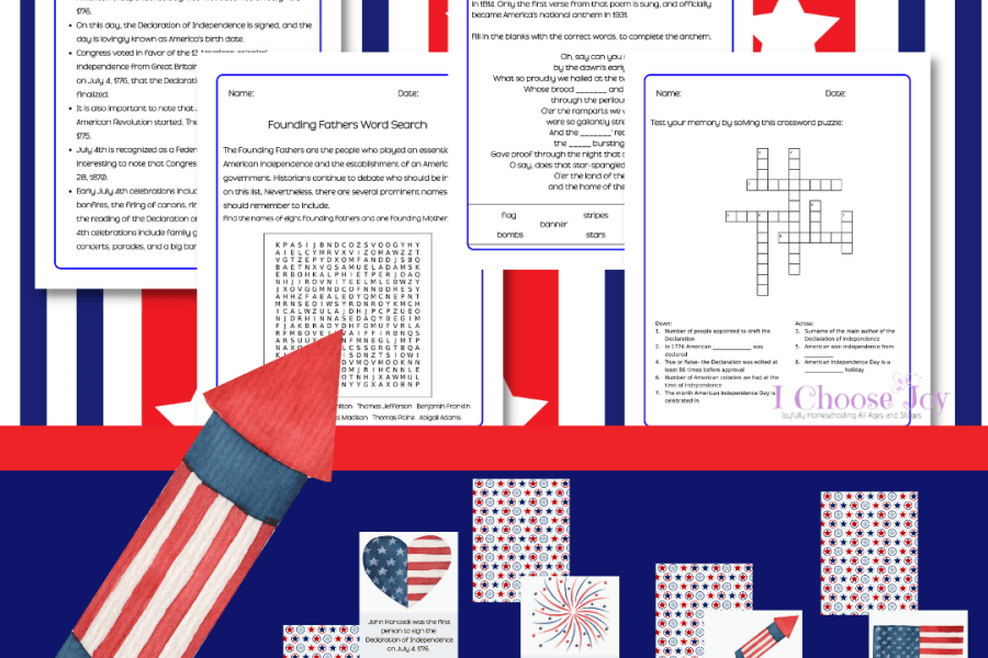 Fourth of July Facts and Activity Pack