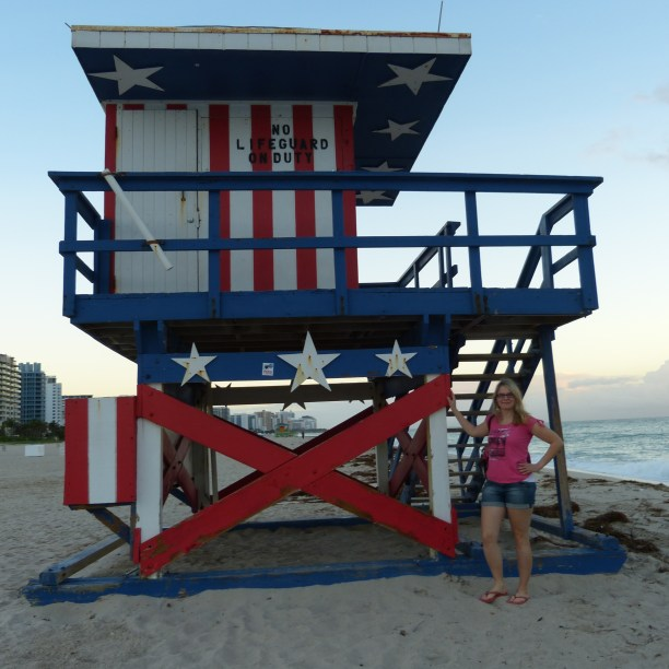 Amerika USA Florida Miami Beach Strand Lifeguard Hütte Baywatch