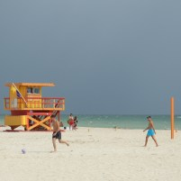 Amerika USA Florida Miami Beach Strand Meer Lifeguard