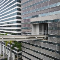 USA Florida Miami Downtown Skyscraper Metromover