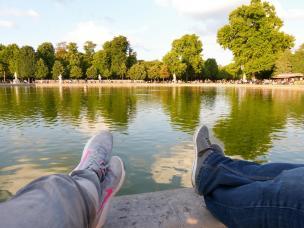 Päuschen am Bassin der Tuilerien