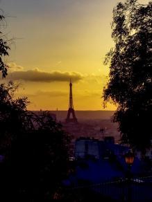 Eiffelturm-Blick von Montmarte