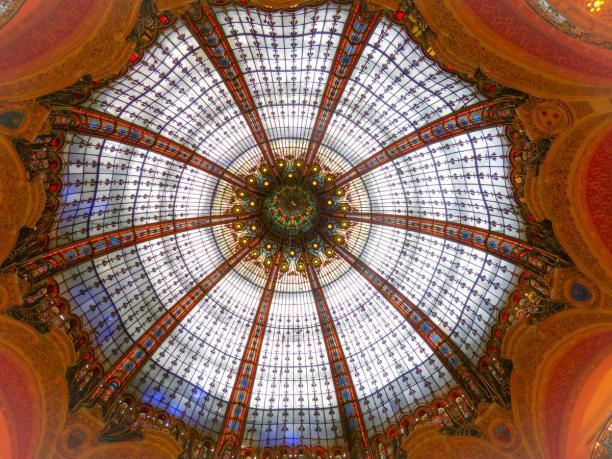 Glaskuppel in den Galeries Lafayette