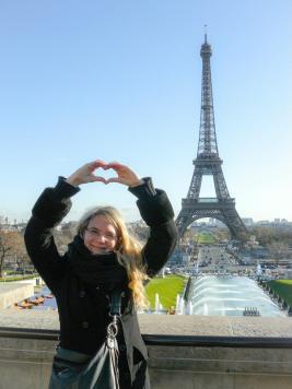Ich liebe Paris und den Eiffelturm