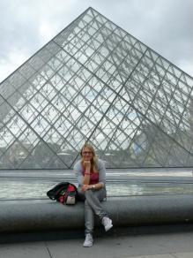 Pause an der Pyramide