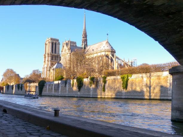 Frankreich Paris Notre Dame de Paris Kathedrale Kirche Gotik Île-de-la-Cité Seine Seineufer
