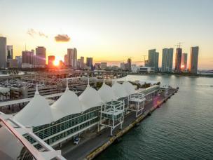 Abendsonne über Downtown Miami-1200x900
