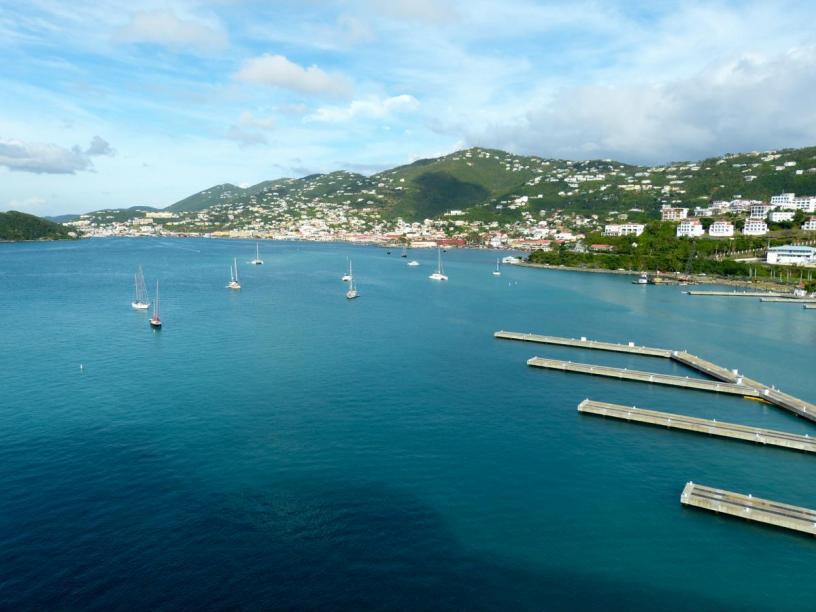 Karibik Kreuzfahrt US Virgin Islands Jungferninseln St.Thomas Charlotte Amalie Hafen