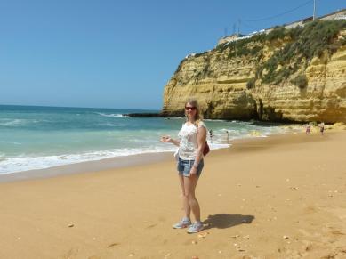 Algarve Carvoeiro Strand Klippen
