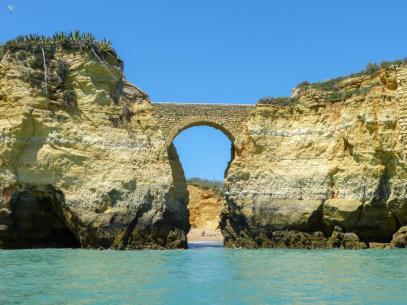 Algarve Lagos Ponta da Piedade Felsenlandschaft Grotten Bootstour
