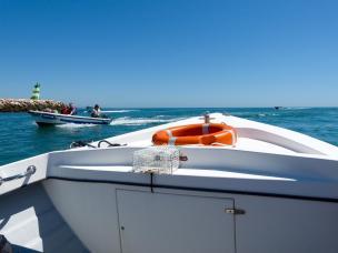 Algarve Lagos Ponta da Piedade Felsenlandschaft Grotten Bootstour Seafaris