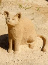 Algarve Pera Sand City Fiesa Sandskulpturen Katze