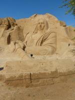 Algarve Pera Sand City Fiesa Sandskulpturen Mona Lisa