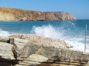 Algarve Sagres Strand Meer Wellen