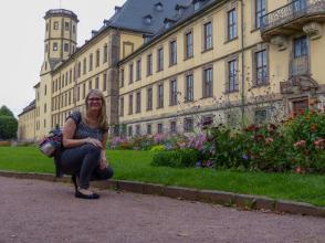 Fulda Stadtschloss Schlossgarten Blume