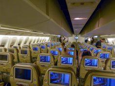 Flugzeug Etihad Flug nach Bangkok