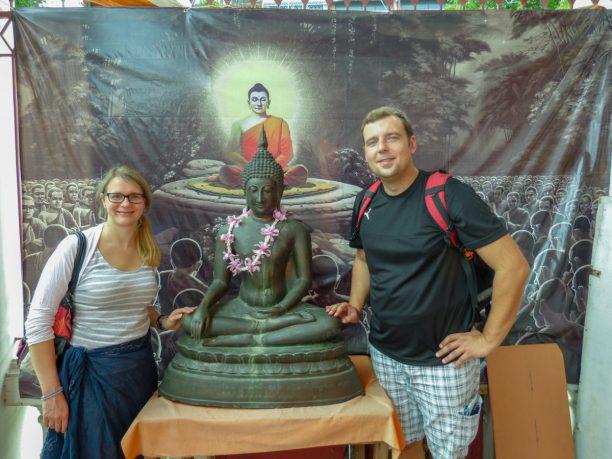 Thailand Bangkok Tempel Lucky Buddha
