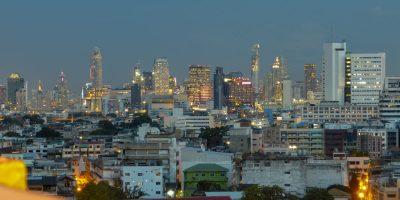 Thailand Bangkok Tempel Wat Saket Golden Mount Aussicht
