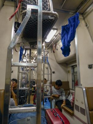 Thailand Bangkok Bahnhof Zug Nachtzug