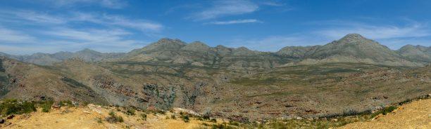 Südafrika Kleine Karoo Oudtshoorn Swartberge Swartbergpass Berge Landschaft Panorama