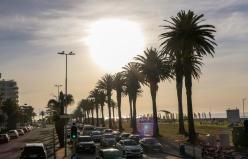 Südafrika Kapstadt Cape Town Sunset Tour Camp's Bay Promenade Abendsonne
