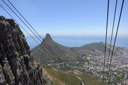 Südafrika Kapstadt Cape Town Tafelberg Table Mountain Seilbahn Auffahrt