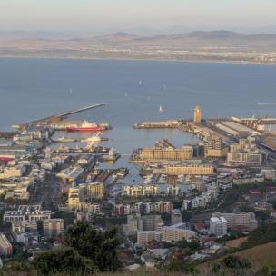 Südafrika Kapstadt Cape Town Sunset Tour Signal Hill Abendsonne Waterfront