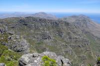 Südafrika Kapstadt Cape Town Tafelberg Table Mountain Ausblick Aussicht Tafelbergmassiv Zwölf Apostel Berge
