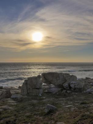Südafrika South Africa Kap Halbinsel Cape Point Nationalpark Kap der Guten Hoffnung Cape of Good Hope Meer Abendsonne
