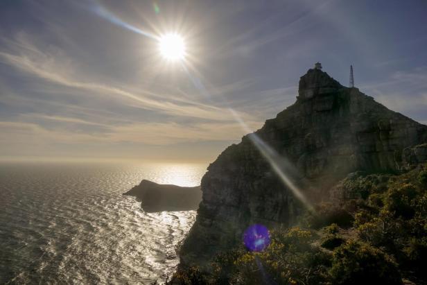 Südafrika South Africa Kap Halbinsel False Bay Cape Point Nationalpark Kapspitze Alter Leuchtturm Abendsonne