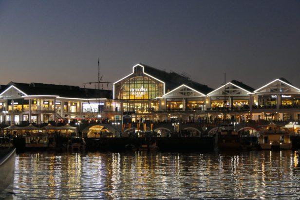 Südafrika Kapstadt Cape Town Victoria 6 Alfred Waterfront Abend Victoria Wharf