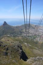 Südafrika Kapstadt Cape Town Tafelberg Table Mountain Aussicht Ausblick Seilbahn Abfahrt