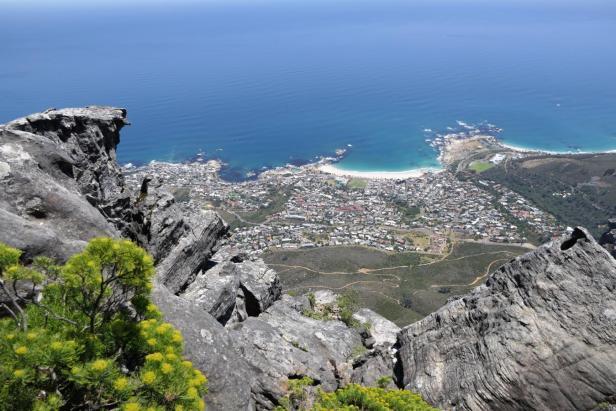 Südafrika Kapstadt Cape Town Tafelberg Table Mountain Ausblick Aussicht Camp's Bay Vorort