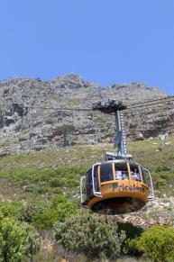 Südafrika Kapstadt Cape Town Tafelberg Table Mountain untere Seilbahnstation Seilbahn Cableway