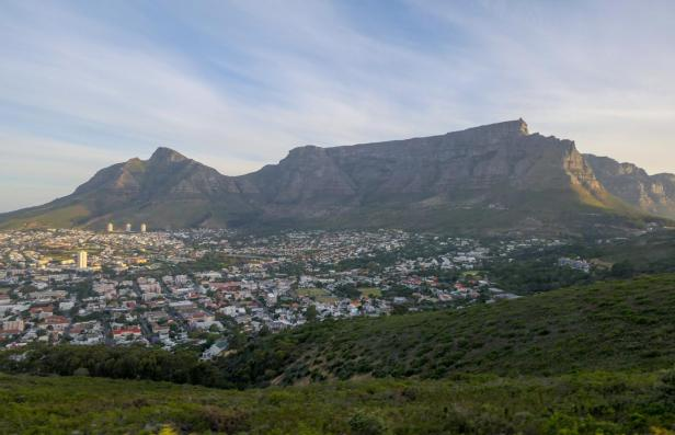 Südafrika Kapstadt Cape Town Sunset Tour Signal Hill Abendsonne Tafelberg Table Mountain Aussicht