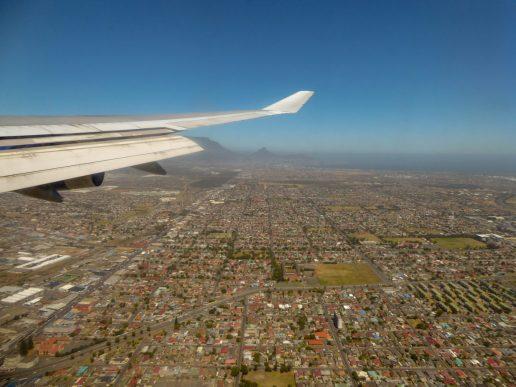 Südafrika Flugzeug British Airway Boeing 747 Flug Kapstadt Cape Town