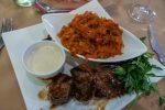 Südafrika Kapstadt Cape Town Victoria & Alfred Waterfront Restaurant Karibu südafrikanisches Essen Vension Chakalaka