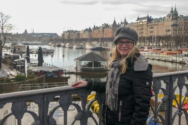 Schweden Stockholm Strandvägen Prunkstraße Häuser Wasser