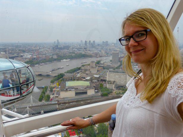 Großbrittanien England London Themse Riensenrad London Eye Gondel Ausblick City