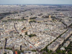 Frankreich Paris Eiffelturm Spitze Ausblick