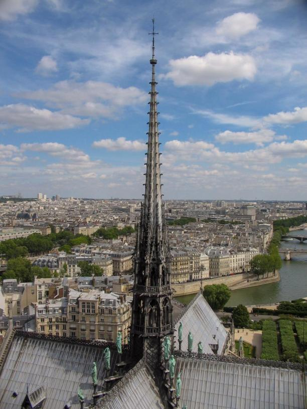 Frankreich Paris Notre Dame de Paris Kathedrale Glockenturm Turm Turmbesteigung Turmspitze Dach La Fleche Spitzturm Vierungsturm