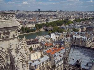 Frankreich Paris Notre Dame de Paris Kathedrale Glockenturm Turm Turmbesteigung Galerie Ausblick Seine