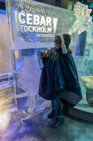 Schweden Stockholm Icebar Icehotel Eis Cocktail