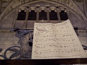 Frankreich Paris Notre Dame de Paris Kathedrale Gotik Schatzkammer Tresor Kirchenmusik Musiknoten