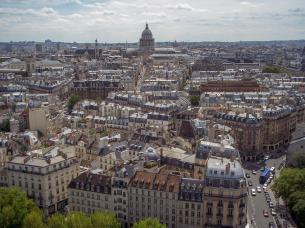 Frankreich Paris Notre Dame de Paris Kathedrale Glockenturm Turm Turmbesteigung Galerie Ausblick Quartier Latin Pantheon