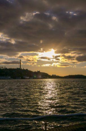Schweden Stockholm Wasser Sonnenuntergang